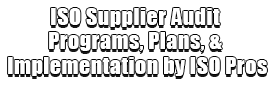ISO Supplier Audit Programs, Plans, & Implementation by ISO Pros Logo